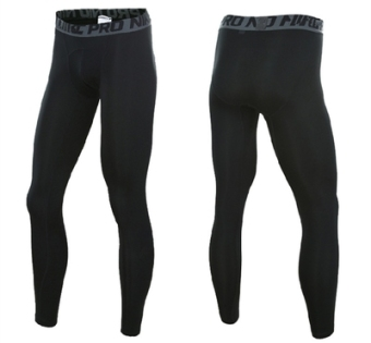 Quick-drying stretch training compression shaping clothing slim fit clothing (Pants black line 10201)