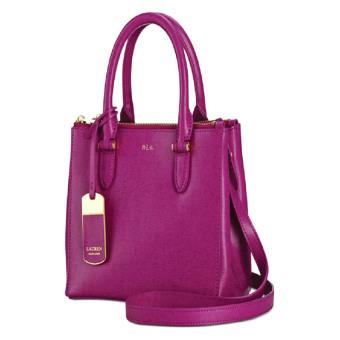 Ralph Lauren Newbury Double Zip Shopper Satchel (Pink)