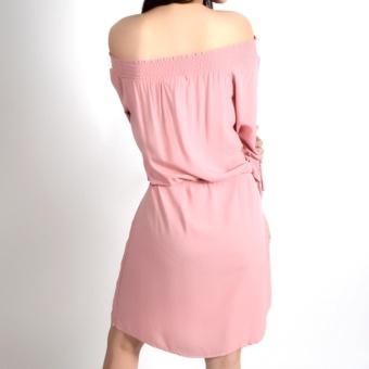 REDGIRL OFF SHOULDER DRESS RLT08-1374 (ROSE TAN) - 3