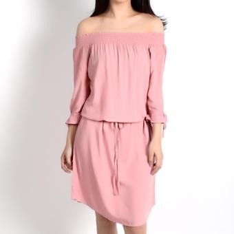 REDGIRL OFF SHOULDER DRESS RLT08-1374 (ROSE TAN)