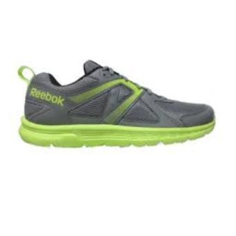 Reebok Run Supreme Running Shoes (Flat Grey/SolarYellow/White/Black) - 4