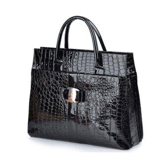 Restore Ancient Ways Bag Crocodile Grain Single Shoulder Bag(Black)