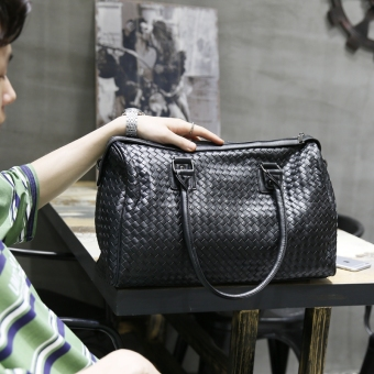 Retro men cross woven hand bag New style men's bag