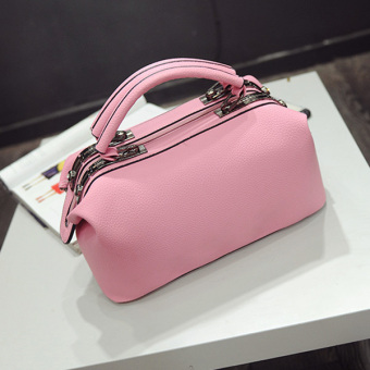 Retro New style portable big bag women's bag (Light pink [spot goods]) (Light pink [spot goods])