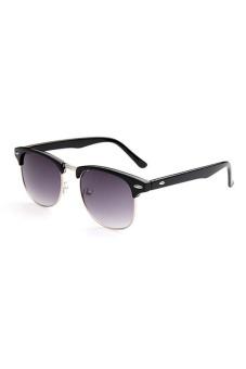 Retro Vintage Womens Mens Designer Oversized Sunglasses (Black)