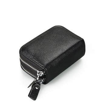 RFID Shielding Primely Genuine Leather Wallet, Credit Card SafeTravel Pocket/Holder/Case Protector/Coins Holder Black - intl