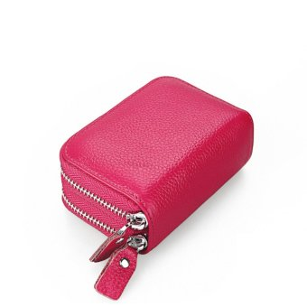 RFID Shielding Primely Genuine Leather Wallet, Credit Card SafeTravel Pocket/Holder/Case Protector/Coins Holder Rose - intl