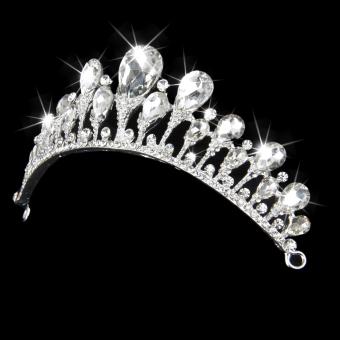Rhinestone Bridal Tiara (White) - picture 2