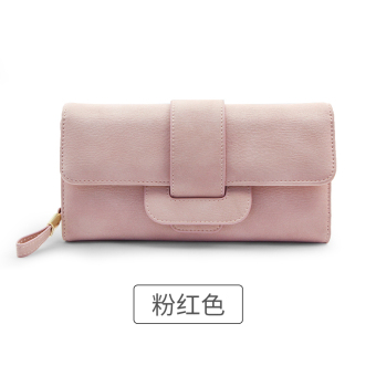 Rinka doll Korean-style New style female multi-functional leather wallet (Pink)
