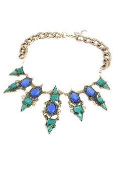 Rivet Pendant Collar Necklace