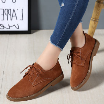 ROCK Korean-style female New style wild cloth shoes autumn shoes (Brown)
