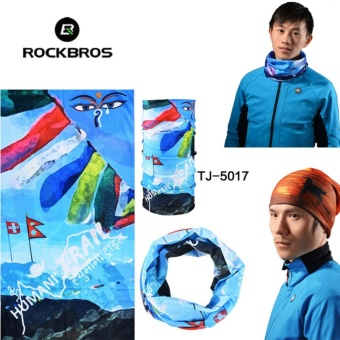 ROCKBROS Wholesale 10 pcs Scarfs Summer Outdoor Sports Bicycle Headwear Seamless Ride Neck Mask Bike Magic Buff Cycling Headband Bandana ( TJ-5017*10pcs) - intl