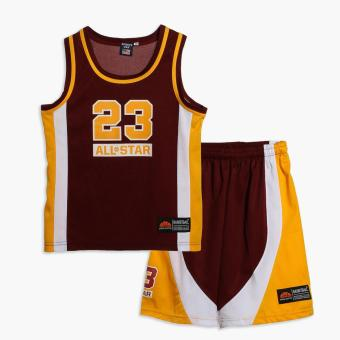 Rookie Boys 23 All Star Jersey Shorts Set (Maroon) Price Philippines