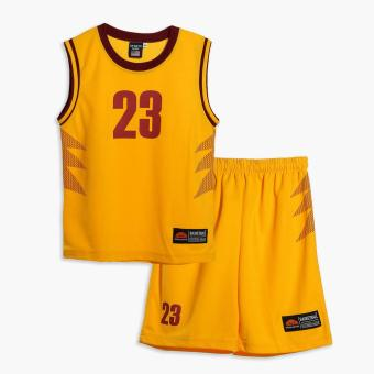 Rookie Boys 23 Jersey Shorts Set (Yellow) Price Philippines