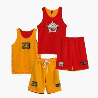 Rookie Boys All Star Championship Cleveland Reversible JerseyShorts Set (Multicolored)