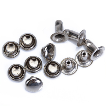 Round Rivets Rapid Studs 6mm Silver Set of 100