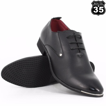 ROUTE35 Russel Formal Lace-ups Casual Business Leather Shoes (Black55109) - 2