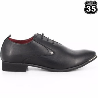 ROUTE35 Russel Formal Lace-ups Casual Business Leather Shoes (Black55109) - 4