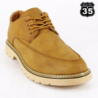 ROUTE35 Theo Formal Lace-ups Casual Business Leather Shoes (Brown 2262)
