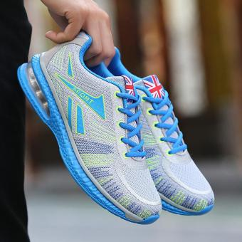 Running Shoes for Mens Outdoor Sport Air Mesh Breathable Sneakers(Blue) - intl - 2