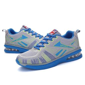 Running Shoes for Mens Outdoor Sport Air Mesh Breathable Sneakers(Blue) - intl