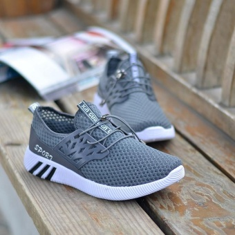 Running Sneakers Men Zapatillas Deportivas Hombre Free Run for Mens Trainers Sports Jogging Homme Lightweight Comfortable Shoes(Grey) - intl
