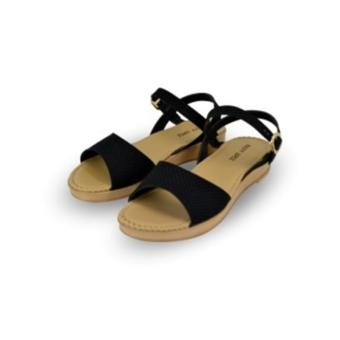 Rusty Lopez Flat Sandals (Black)