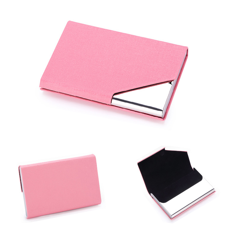 Philippines rz business name card holder luxury pu leather rz business name card holder luxury pu leather stainlesssteel multi card casebusiness name reheart Image collections