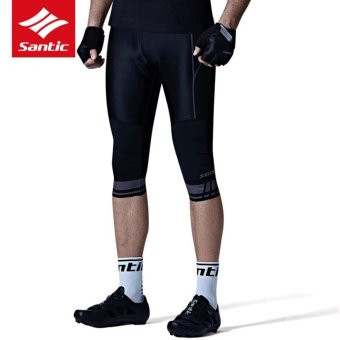 Santic Spring Summer Men Pro Cycling Pants Bowl-shaped Groove Cushion Quick-dry Breathable Cycling Shorts Bike Bicycle Trousers Tights - intl