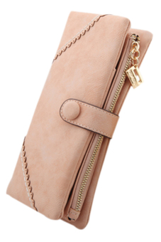Sanwood® Bifold Button Clutch Pink