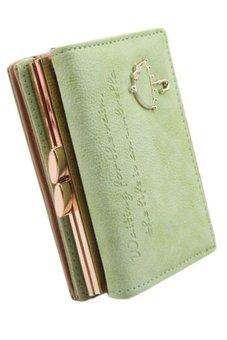 Sanwood Faux Leather Clutch Wallet Green