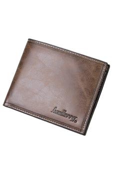 Sanwood Men Bifold Faux Leather Purse Ultra-thin Clutch Dark Coffee