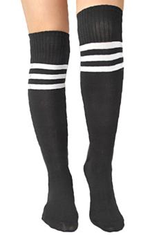 Sanwood Over Knee Socks Black