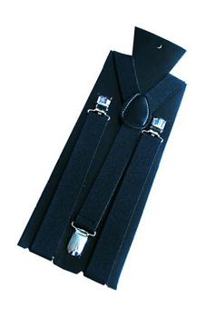 Sanwood Unisex Elastic Clip-on Y-Shaped Adjustable Braces Black