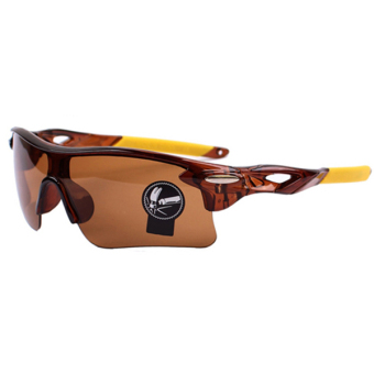 Sanwood Unisex Sports Fishing UV Protection Sunglasses Coffee