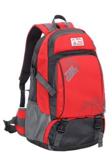 Sanwood Unisex Travel Climbing School Bag Outdoor Backpack Red