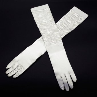 Satin Fingertips Opera Length Bridal/Evening/Party Gloves Style 013