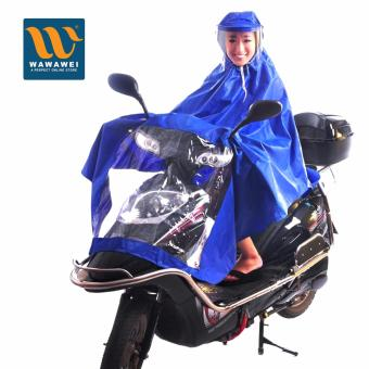 Scooter Multipurpose Waterproof Cape Lengthen Raincoat PonchoHigh Quality Rain Coat with Hood (Blue)