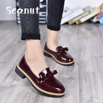 Seanut Fashion Comfortable Flat Shoes Fashion Comfortable LeatherShoes (Red) - intl Price Philippines