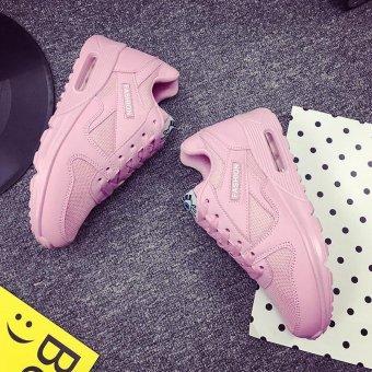 Seanut Fashion Korean Women Shoes Spring Tenis Feminino Casual Shoes Outdoor Walking Shoes Women Flats Lace Up Ladies Shoes(Pink) - 4