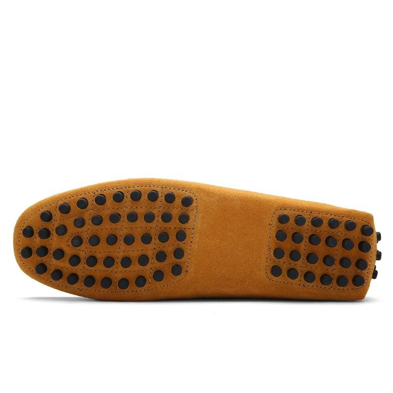 ... Seanut Fashion Leather Slip On Men Loafers Casual Shoes (Yellow) -intl ...