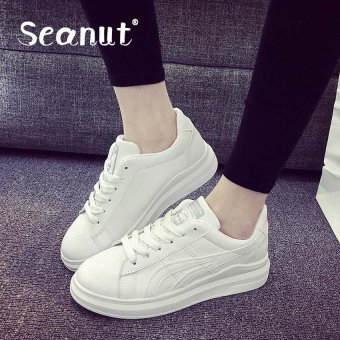 Seanut Fashion Woman's leisure sports shoes (White) - intl Price Philippines