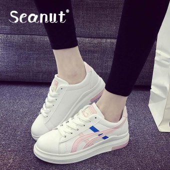 Seanut Fashion Woman's leisure sports shoes (White,Pink) - intl Price Philippines