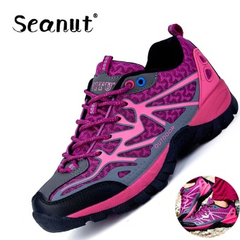 Seanut Hiking Shoes Lover Shoes Fashion Breathable Sports Mesh Shoes (Purple) - intl