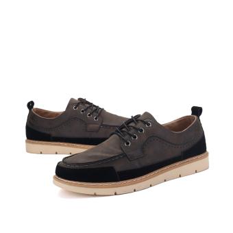 Seanut Men's Casual shoes Low Cut Shoes(Black) - 3