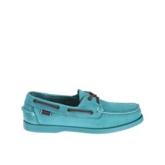 Sebago Docksides Men Boat Shoes (Teal Nubuck)