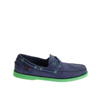 Sebago Docksides Women Boat Shoes (Bright Blue/Nubuck Mint)