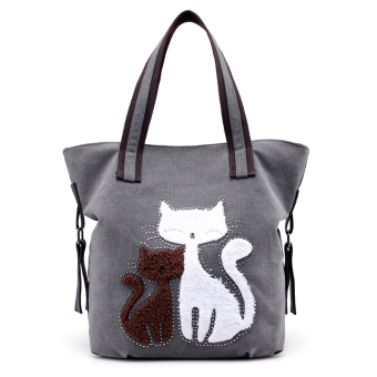 Sen Department New style Korean-style women's bag canvas bag (Shishang gray)