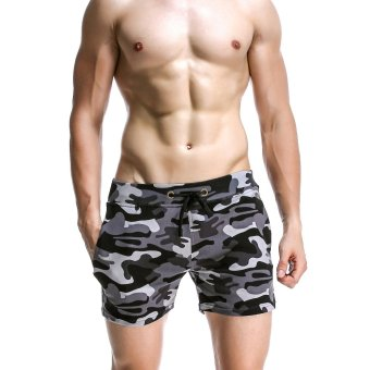 SEOBEAN Mens Summer Shorts Casual Sports Shorts Gym Boxing RunningCamouflage Shorts (Grey,Size:M-XL) (Intl) Price Philippines