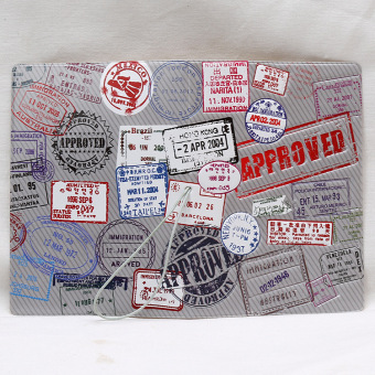 Sets multi-functional documents bag passport cover (Silver Postmark)